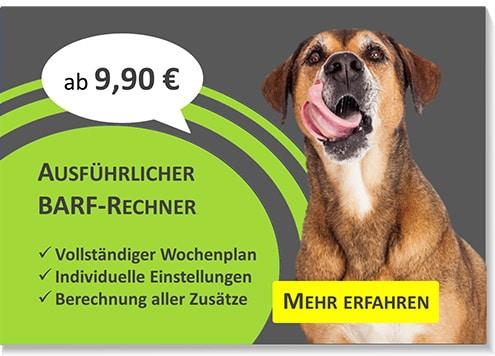 Ad für BARF-Rechner ab 9,90 EUR mit ausführlicheren Funktionen